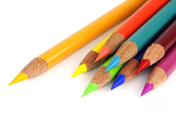 Kindergarten Photograph - Colored Pencils by Blink Images