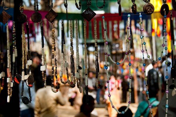 Jewelery Photograph - Colorful Beads At The Surajkund Mela by Ashish Agarwal