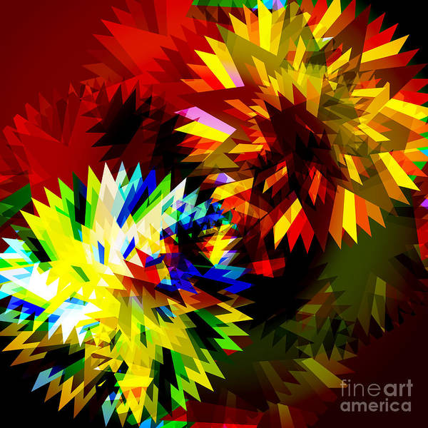 Rotating Digital Art - Colorful Blade by Atiketta Sangasaeng