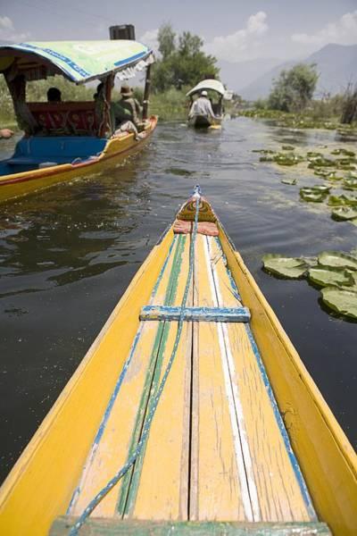 Dal Lake Photograph - Colorful Boats On Dal Lake Dal Lake by David DuChemin