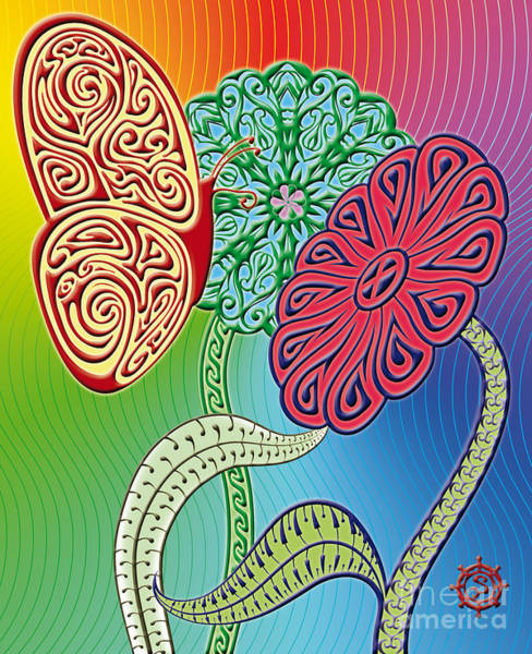 Colorful Butterfly Art Print by Santi Goma Rodriguez