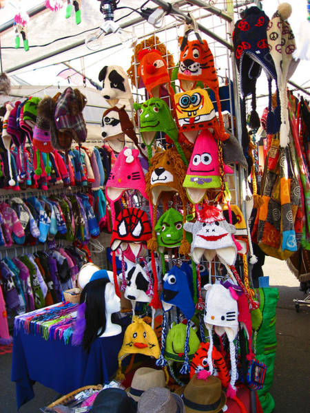 Sock Monkey Photograph - Colorful Character Hats by Kym Backland
