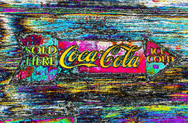 Coca Cola Painting - Colorful Coke by David Lee Thompson