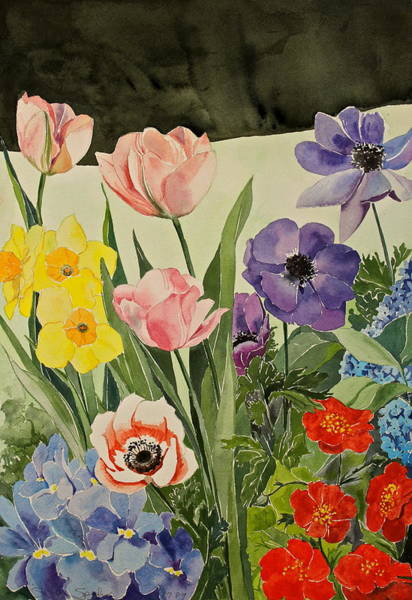 Painting - Colorful Flowers-posthumously Presented Paintings Of Sachi Spohn  by Cliff Spohn