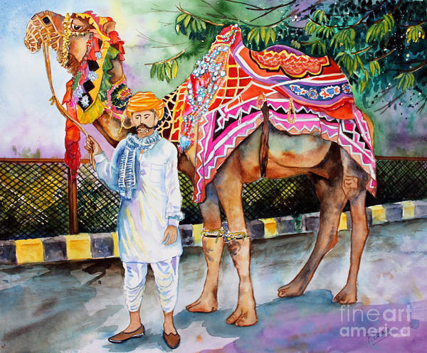 India Painting - Colorful India by Priti Lathia