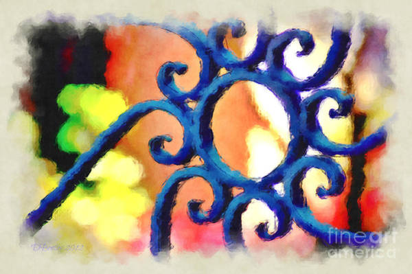 Photograph - Colorful Ironwork by Donna Bentley