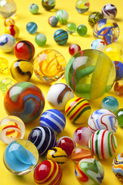 Amusing Photograph - Colorful Marbles Two by Garry Gay