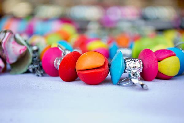 Jewelery Photograph - Colorful Pearls by Ankit Sharma
