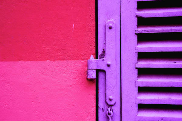 Monaco Photograph - Colorful Wall And Wood Shutter In Monaco by Alexandre Fundone