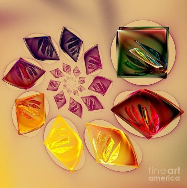 Whirl Digital Art - Colorful Whirl by Klara Acel