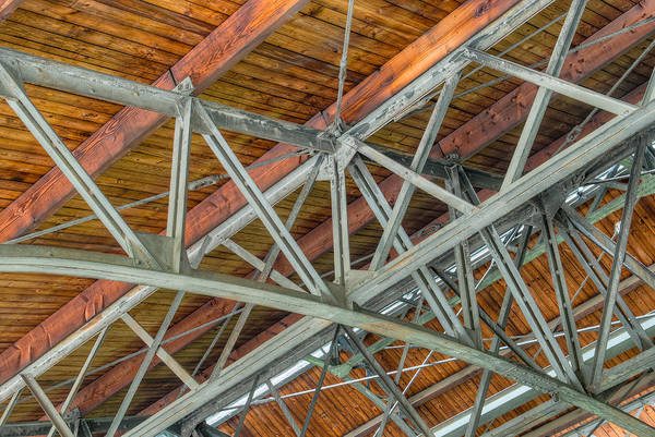 Photograph - Colorized Trusses by Dennis Dame