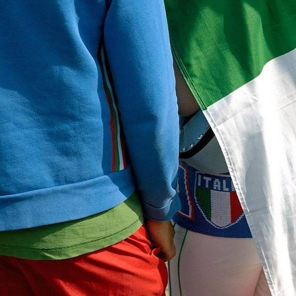 Detail Photograph - Colors Of Italy - Green White And Red by Matthias Hauser