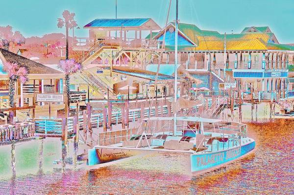 Colors Of Shem Creek Sc Art Print