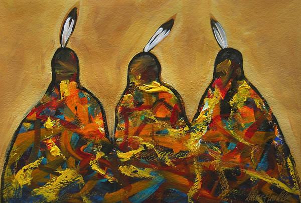 Painting - Colors Of Three by Lance Headlee