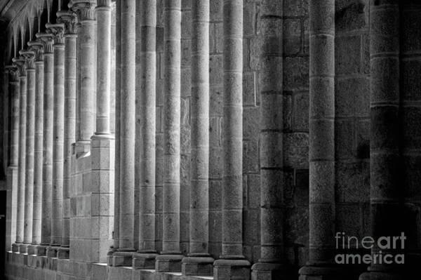 Wall Art - Photograph - Columns At Mont Saint-michel by Sami Sarkis