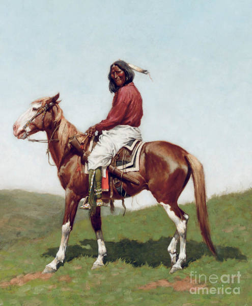 Wall Art - Painting - Comanche Brave by Frederic Remington