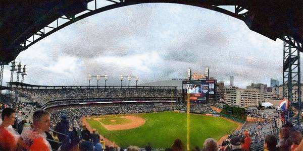 Eye Ball Photograph - Comerica Park Home Of The Detroit Tigers by Michelle Calkins
