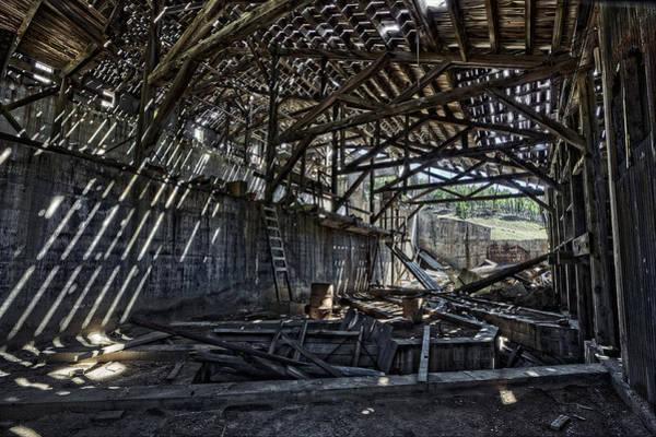 Lead Mine Wall Art - Photograph - Comet Ghost Mine Mill Interior - Montana by Daniel Hagerman