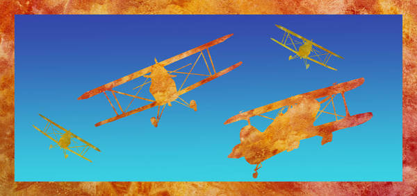 Aerobatics Wall Art - Digital Art - Coming And Going by Jenny Armitage