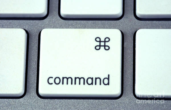Macintosh Apple Photograph - Command Key by Photo Researchers, Inc.
