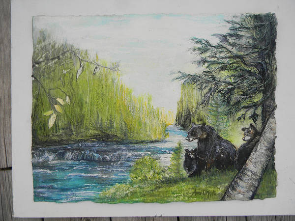 Painting - commission Pete's Dam 25yrs  by Anne-D Mejaki - Art About You productions