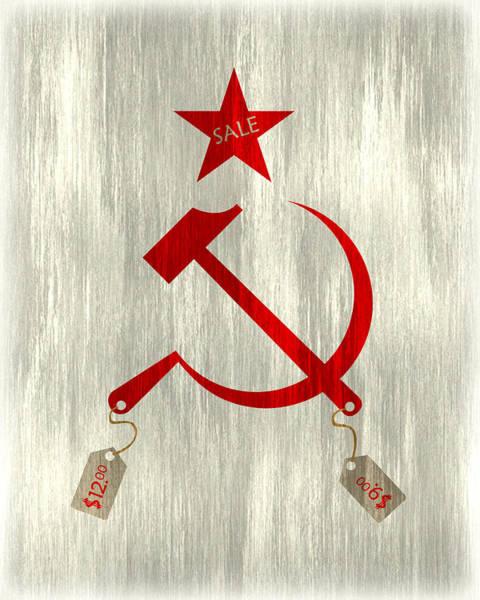 Capitalism Digital Art - Communism Vs. Capitalism by Bojan Bundalo