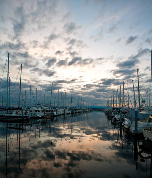 Puget Sound Photograph - Complicated Sky by Mike Reid