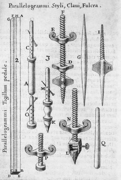 Scaling Photograph - Components Of A Pantograph by Middle Temple Library