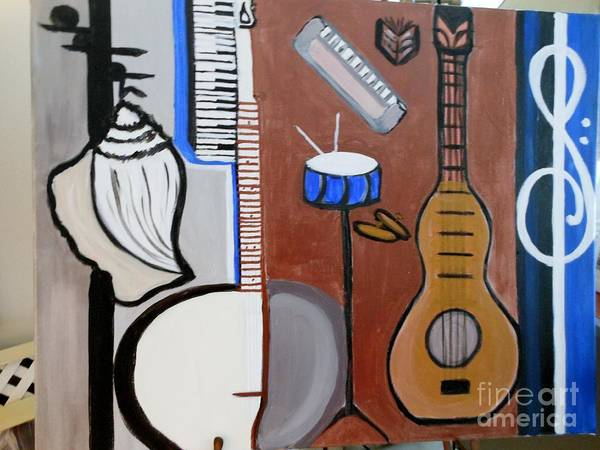 Note Book Painting - Conch Shell All Girl Band From Buffalo by Marie Bulger
