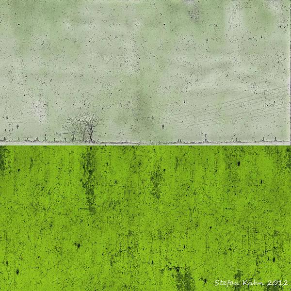 Fence Mixed Media - Concrete Landscape 1 by Steve K