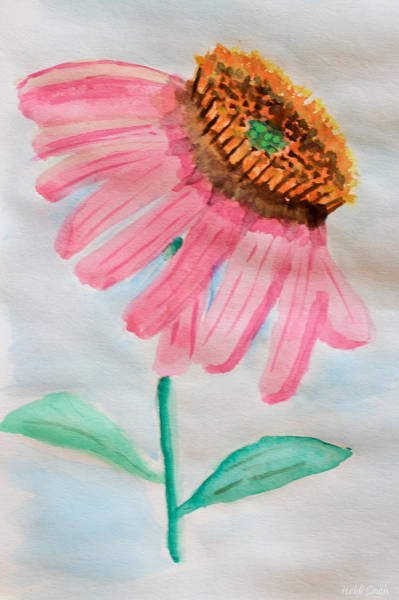 Coneflower Painting - Coneflower - Watercolor by Heidi Smith