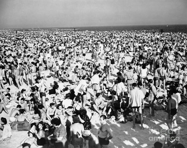 Photograph - Coney Island 1941 by Photo Researchers