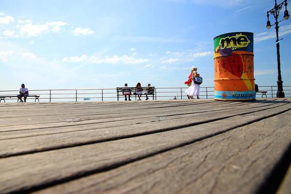 Wall Art - Photograph - Coney Island Boardwalk by Valentino Visentini