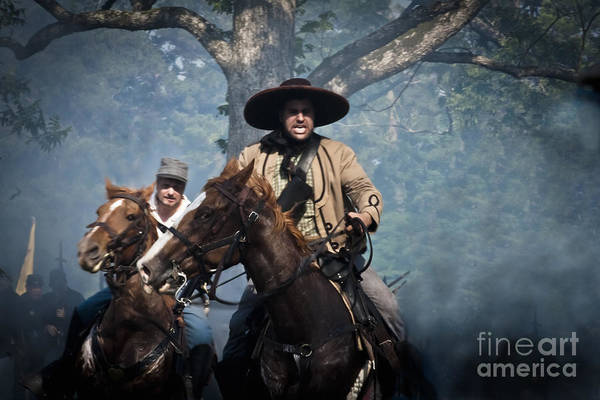 Battlefield Mixed Media - Confederate Charge by Kim Henderson