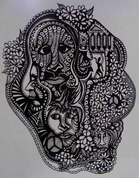 Ish Wall Art - Drawing - Confinement by Gerri Rowan