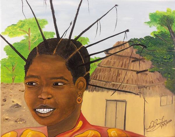 Confident Painting - Congolese Woman by Nicole Jean-Louis