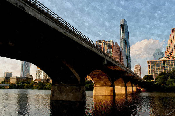 Photograph - Congress Avenue Bridge And Downtown Austin Texas by Sarah Broadmeadow-Thomas