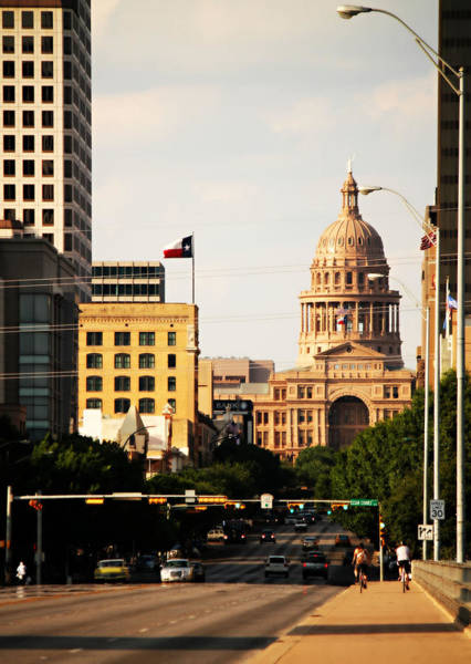 Photograph - Congress Avenue In Austin And Texas State Capitol Building by Sarah Broadmeadow-Thomas