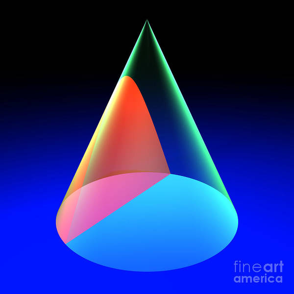 Digital Art - Conic Section Hyperbola 6 by Russell Kightley