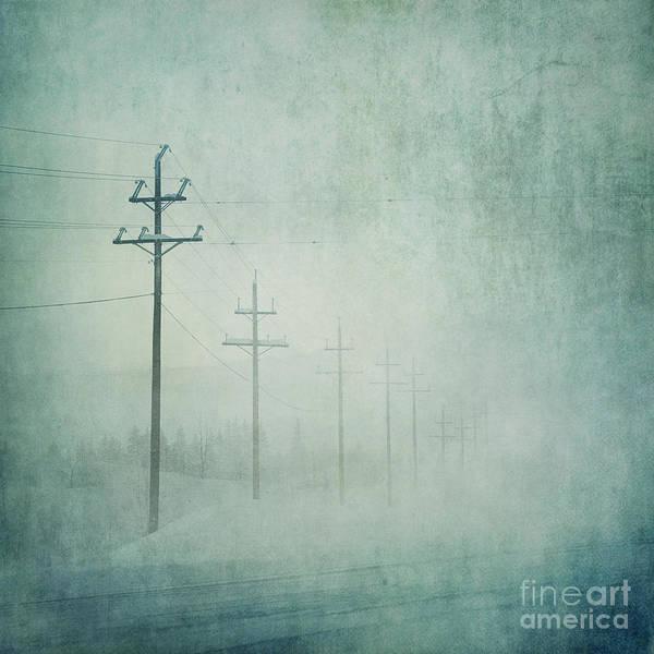 Utility Pole Photograph - Connenction by Priska Wettstein