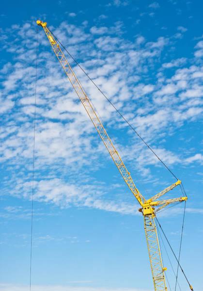 Lifting Photograph - Construction Crane by Tom Gowanlock
