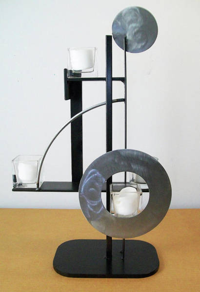 Sculpture - Constructivist Candle Holder Model B by John Gibbs