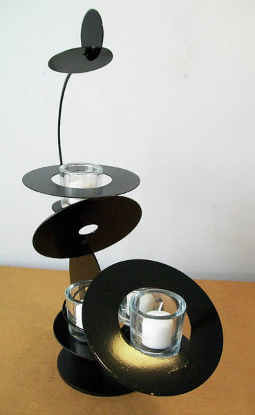 Sculpture - Constructivist Candle Holder Model C V2 by John Gibbs