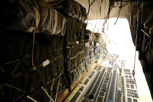 C-17 Photograph - Container Delivery System Bundles Drop by Stocktrek Images
