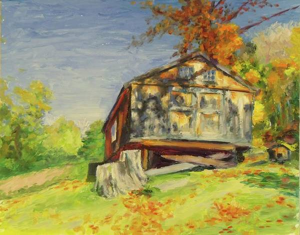 Painting - Converted Barn Orrs Mill Ny by Nicolas Bouteneff
