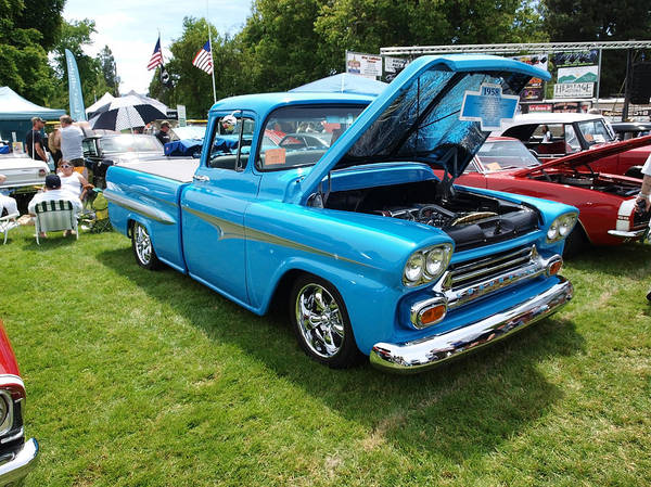 Rogue Valley Photograph - Cool Blues Classic Truck by Teri Schuster