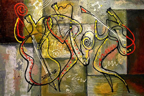 Wall Art - Painting - Cool Jazz by Leon Zernitsky
