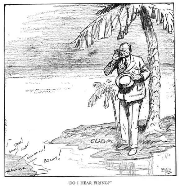 Roosevelt Island Wall Art - Photograph - Coolidge Cartoon, 1928 by Granger