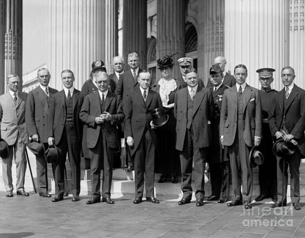 Delegation Photograph - Coolidge: Red Cross, 1923 by Granger