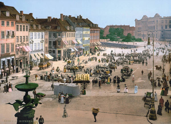 Photograph - Copenhagen: Plaza, C1895 by Granger